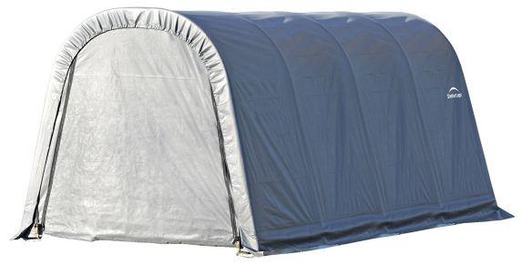 ShelterLogic ShelterCoat™ Round Style Shelter, Grey, 10-ft x16-ft x 8-ft Product image