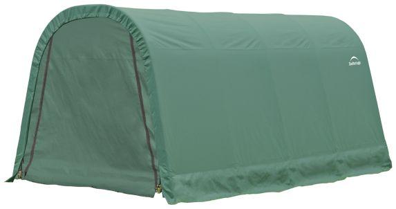 ShelterLogic ShelterCoat™ Round Style Shelter, Green, 10-ft x16-ft x 8-ft Product image