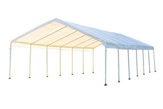 Auvent ShelterLogic à 14 montants, blanc, 18 x 40 pi Image de l'article