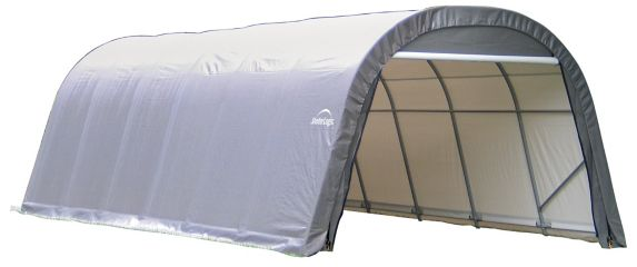 Abri à toit arrondi ShelterLogic ShelterCoat, gris, 12 x 24 x 8 pi Image de l'article