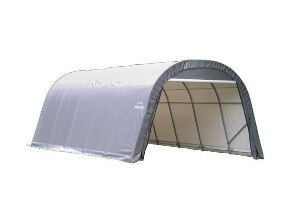 Abri à toit arrondi ShelterLogic ShelterCoat, gris, 12 x 28 x 8 pi Image de l'article