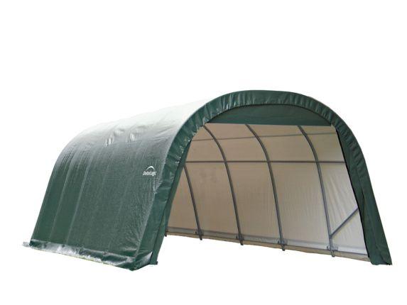 Abri à toit arrondi ShelterLogic ShelterCoat, vert, 12 x 28 x 8 pi Image de l'article