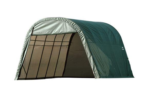 ShelterLogic ShelterCoat™ Round Style Shelter, Green, 13-ft x 24-ft x 10-ft Product image