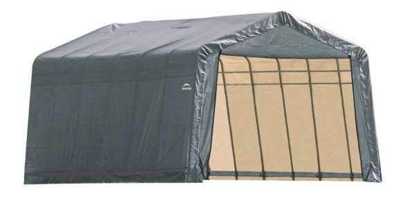 Shelter Logic Peak Style Shelter, 12-ft x 28-ft x 8-ft, Grey Product image