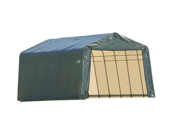 ShelterLogic ShelterCoat™ Peak Style Shelter, Green, 13-ft x 24-ft x 10-ft Product image