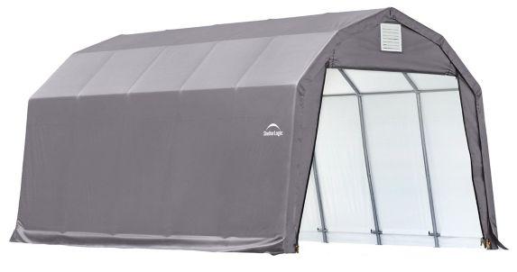 ShelterLogic ShelterCoat™ Barn Shelter, Grey, 12-ft x 20-ft x 11-ft Product image