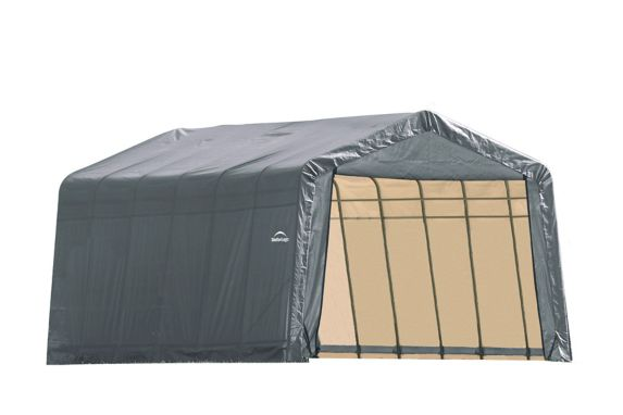 ShelterLogic ShelterCoat™ Peak Style Shelter, Grey, 13-ft x 28-ft x 10-ft Product image