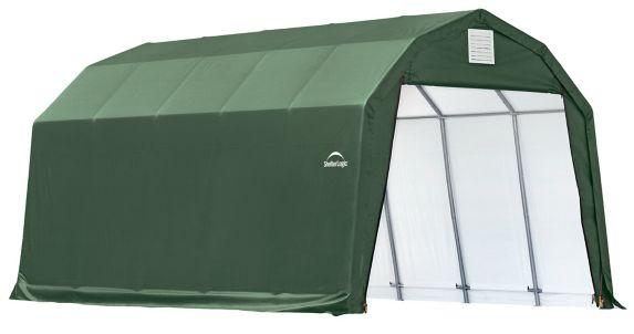 ShelterLogic ShelterCoat™ Barn Shelter, Green, 12-ft x 28-ft x 9-ft Product image