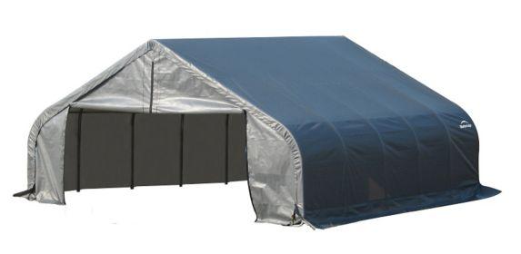 Shelter Logic Peak Style Shelter, 18-ft x 20-ft x 9-ft, Grey Product image