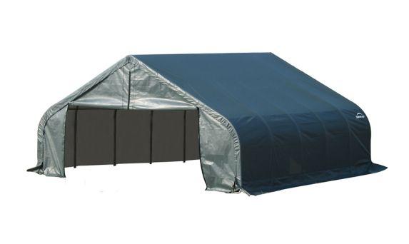 ShelterLogic ShelterCoat™ Peak Style Shelter, Green, 18-ft x 20-ft x 9-ft Product image