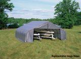 ShelterLogic ShelterCoat™ Peak Style Shelter, Grey, 22-ft x 24-ft x 11-ft   Shelter Logicnull