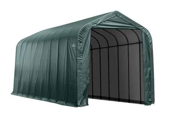 ShelterLogic ShelterCoat™ Peak Style Shelter, Green, 14-ft x 28-ft x 12-ft Product image