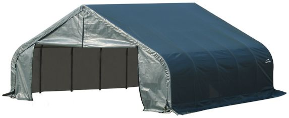 Abri à toit pointu ShelterLogic ShelterCoat, vert, 22 x 24 x 13 pi Image de l'article