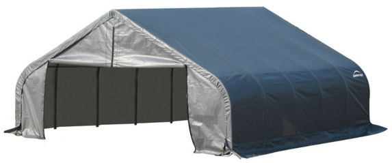 Abri à toit pointu ShelterLogic ShelterCoat, gris, 18 x 28 x 11 pi Image de l'article
