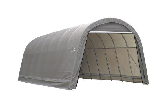 ShelterLogic ShelterCoat™ Round Style Shelter, Grey, 14-ft x 28-ft x 12-ft Product image