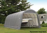 ShelterLogic ShelterCoat™ Round Style Shelter, Grey, 14-ft x 28-ft x 12-ft   Shelter Logicnull