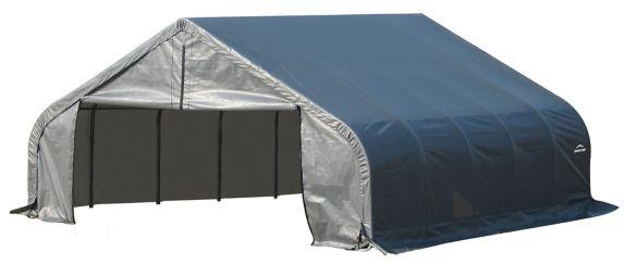Abri à toit arrondi ShelterLogic ShelterCoat, gris, 22 x 28 x 13 pi Image de l'article