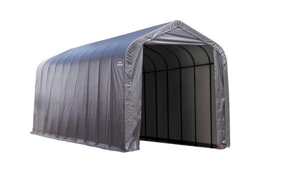 Abri à toit pointu ShelterLogic ShelterCoat, gris, 14 x 40 x 16 pi Image de l'article