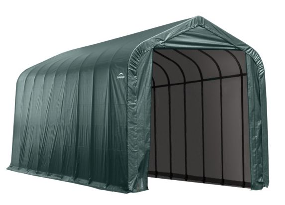 Abri à toit en pente ShelterLogic, vert, 14 x 40 x 16 pi Image de l'article