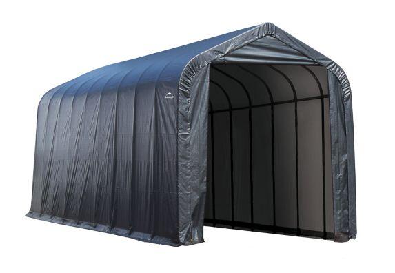 ShelterLogic ShelterCoat™ Peak Style Shelter, Grey, 14-ft x 44-ft x 16-ft Product image