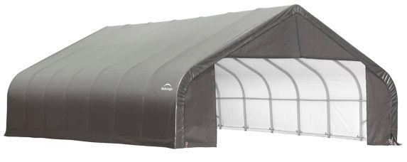 Abri à toit pointu ShelterLogic ShelterCoat, gris, 30 x 28 x 20 pi Image de l'article
