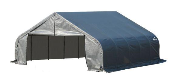 Abri à toit pointu ShelterLogic, 18 x 28 x 9 pi Image de l'article