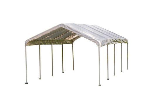ShelterLogic 10-Leg Frame Canopy, White, 12x26-ft Product image