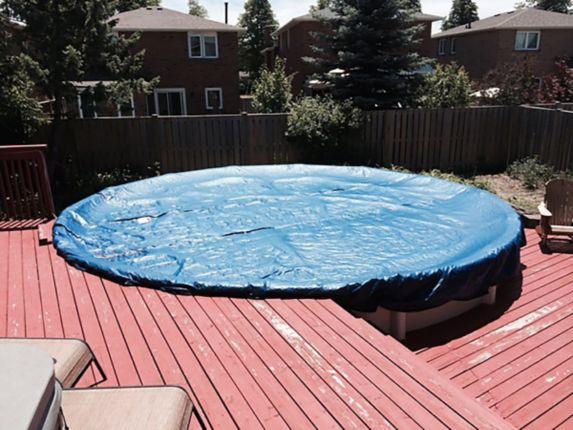 Bâche d'hiver pour piscine hors terre CoverTech, ovale Image de l'article