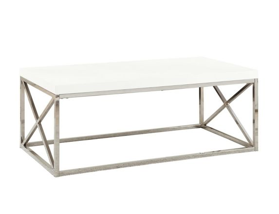 Monarch Coffee Table with Chrome Crossed Legs Product image
