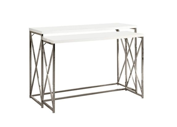 Monarch Hallway Table with Chrome Crossed Legs, 2-pc Product image