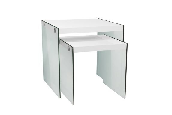 Monarch Nesting Tables with Glass Legs, 2-pc Product image