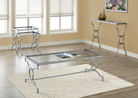 Monarch Rectangle Coffee Table with Glass Top Product image