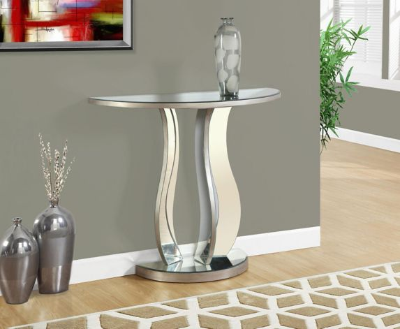 Monarch Silver Brushed Mirror Finished Hallway Table Product image