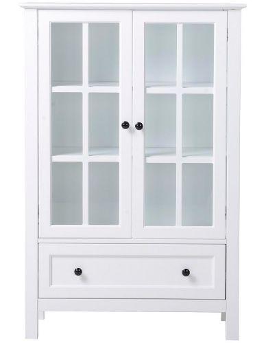 Homestar Miranda 2-Door Glass Cabinet, White  Product image