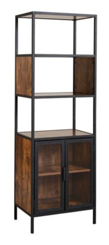 Homestar Mixed Material Display Cabinet with Glass Doors Product image