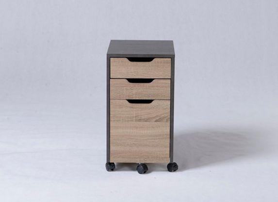 Classeur Homestar à 3 tiroirs, bois récupéré Image de l'article