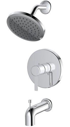 Robinet de baignoire et douche à 1 poignée Danze Crete, chrome Image de l'article