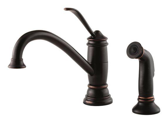 Robinet d'évier à poignée simple Pfister Brookwood, bronze toscan Image de l'article