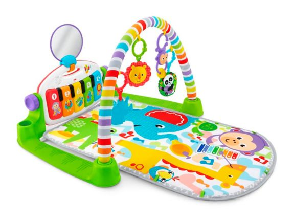 Fisher-Price Deluxe Kick and Play Piano Gym, Green Product image