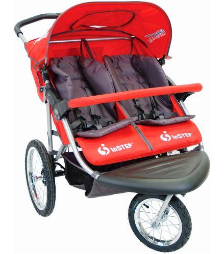Poussette double de jogging In-Step Safari TT, 3roulettes , rouge Image de l'article