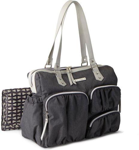 Bananafish Baby Boom Purse-Style Diaper Bag, Cross Hatch/Cream Product image