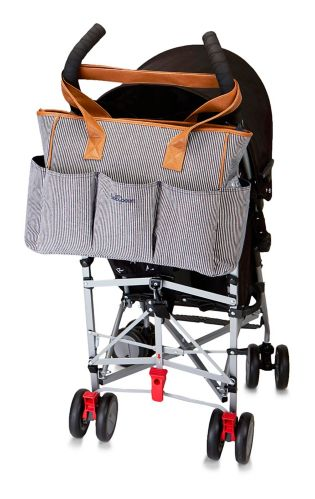 Sac à couches fourre-tout à 7 poches Baby Boom, rayures marines Image de l'article