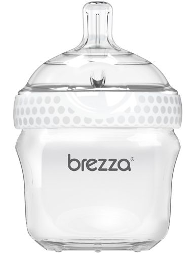 Baby Brezza Polypropylene Baby Bottle, White, 5-oz Product image