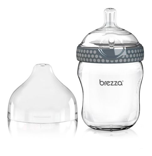Biberon en verre Baby Brezza, gris, 8oz Image de l'article