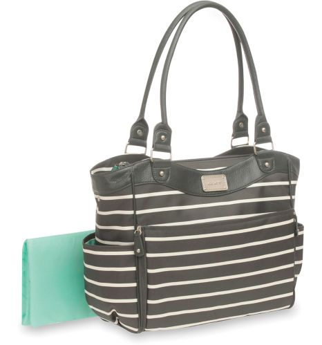 Carter's Convertible Tote, Grey/White Stripe Product image