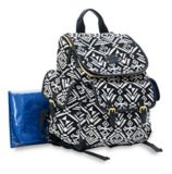 Carter's Jacquard Aztec Diaper Bag, Black/White | Carter'snull