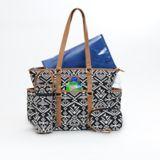 Carter's Studio Tote Diaper Bag, Black Aztec Jacquard | Carter'snull