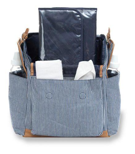 Sac à couches Carter's Baby Go, rayures à carreaux bleu marine Image de l'article