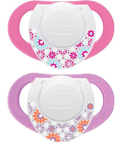 NaturalFit® Chicco Deco Shield Pacifier, Pink, 4+ Months, 2-pk Product image