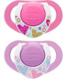 Sucette NaturalFit Chicco, décorative, rose, 12 mois +, P2 | Chicconull